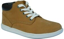 "Boys Childrens Kids Infants Timberland 6"" Zip slimcup Wheat Leather Mid Trainers"