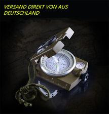 BW Bundeswehr Armeekompass mit Etui oliv Kompass Metallgehäuse Marschkompass DE