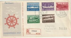 1957 Netherlands FDC cover Charity Stamps - Ships