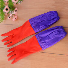 New Dish Washing Gloves Long Thick Warm Laundry Clothes Car Cleaning Glove 1Pair