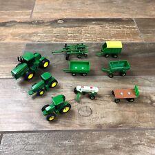 John Deere Ertl Tractors Farm Equipment Implements Lot Of 9 Toys M15