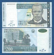 MALAWI -- 200 KWACHA ( 2004 ) -- UNC -- PICK 55a .