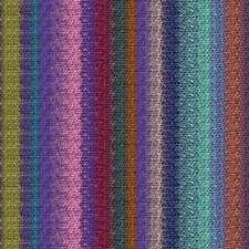 NORO ::Silk Garden Lite #2161:: mohair silk wool yarn Purple-Wine-Pea-Brick-Aqua
