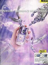 Publicité advertising 2002 Appareil photo Nikon Coolpix 2500
