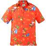 Christmas Gift Mens True Face Hawaiian Print Polyester Shirt Beach Holiday Top