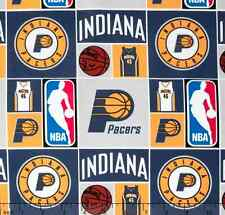 NBA Sports Broadcloth Indiana Pacers Patch 100% cotton Fabric by the yard