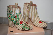 Laurence Dacade Multicolor Embroidered Ankle Boots sz US 7-7.5  / IT 38 $900