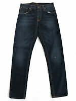Nudie Herren Regular Tapered Fit Jeans Hose - Sharp Bengt Eco Wash
