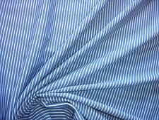 1 Lfm  Jersey 3,05€/m²  Baumwolle, Ringeljersey blau, weiß KA3.1