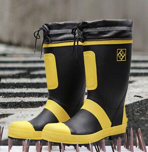 2021 men rain boots size 50 shoes rain boots increase wedge heel rubber