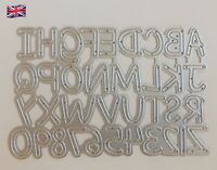 Alphabet Lettering & Numbers Metal Cutting Die Scrapbooking Arts & Crafts
