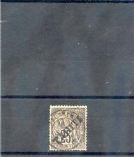 TAHITI Sc 13((YT 15)VF USED, 1893 25c BLACK/ROSE, $100