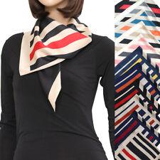 """L8 woman Square 27X27"""" SCARF Stripe border bandana wrap satin high quality"""