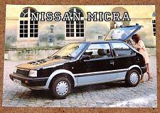 1986 NISSAN MICRA Sales Brochure - L Colette SGL Auto - Brand New Old Stock!!