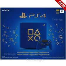 Sony PlayStation 4 1TB Limited Edition Days of Play Console Bundle, Blue NEW