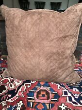 Ralph Lauren Chocolate Brown Suede Leather European Pillow Sham Euro