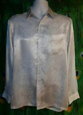 Vtg Marquis Men's M Button Up Shirt, White, Simulated Snake Skin. C-4