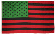 3x5 Afro American USA Flag African American Black Lives Matter Banner Red Green