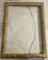 Vintage carved wood gold frame  19 x27  for 15.5 x 23.5 art