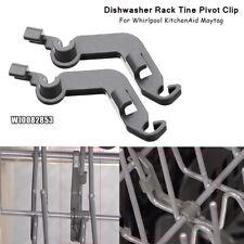 Pair W10082853 Dishwasher Rack Tine Pivot Clip For Whirlpool KitchenAid Maytag