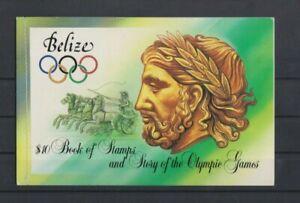 Belize 1984 Los Angeles Booklet MNH per scan ..slight corner rub wear mark