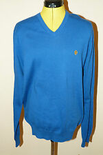 BNWT Lyle and Scott Long Sleeve Duke Blue V Neck Pullover/Jumper. Size L