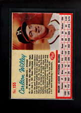 1962 POST CEREAL #155 CARLTON WILLEY VG-EX F1955