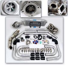 T3 T3/T4 T04E Turbo Kit Ram Horn Manifold Celica GTS Matrix Corolla 2ZZ-GE 2ZZGE