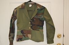 Girls CLAUDE Green Camouflage Button Jacket Size 14