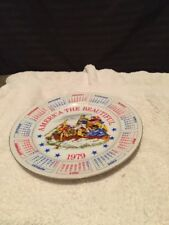 America The Beautiful 1979 Calendar 9� Plate Collectible Spencer Gift Inc