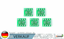 5Stück SOP8 SO8 SOIC8 TSSOP8 MSOP8 nach DIP 8 Adapter Board Platine für DIY