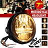 """Universel 7"""" 27 LED Ambre Phare Feux avant Éclairage Clignotant support Moto"""