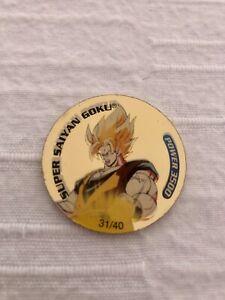 Super Saiyan Goku 31/40 Gold Dragonball Z DBZ Tazo Dizk