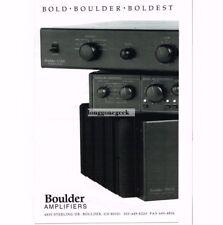 1991 Boulder L3AE preamplifier 500AE Amplifier Stereo Hi-Fi Vtg Print Ad