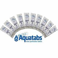 Aquatabs Water Purification 50 Tablet Tab Survival Emergency FRESHEST EXP 01/25
