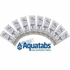 Aquatabs Water Purification 50 Tablet Tab Survival Emergency Freshest Exp 01/25