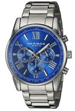 Akribos XXIV Men's Quartz Watch with Blue Dial Analogue Display