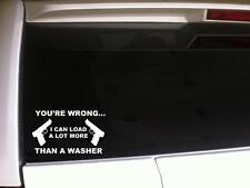 "Load More Than Dishwasher Car Decal Vinyl Sticker 6"" *G16 Guns Girl Pistol Mom"