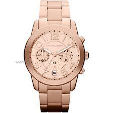 MK5727 NEW Genuine Michael Kors Mercer Rose S/Steel Unisex Bracelet Watch £259