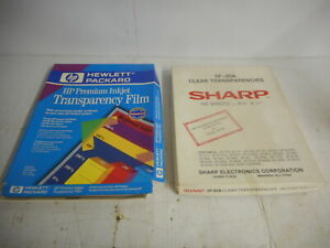Lot of HP C3834A & Sharp SF-85A Transparency Film 2 Packs - Both Are Half Full