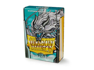 Japanese Classic White 60 ct Dragon Shield Sleeves YuGiOh Size 10% OFF 2+