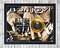 BON JOVI KEEP THE FAITH CUADRO CON GOLD O PLATINUM CD EDICION LIMITADA. FRAMED