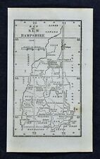 1830 Nathan Hale Map - New Hampshire Portsmouth Concord Amherst Charleston Keene