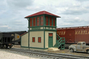 BACHMANN 35113 HO RAILROAD SWITCH TOWER PAINTED BUILT RESIN BUILDING FREE SHIP