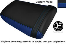 BLACK & R BLUE VINYL CUSTOM FOR HONDA CBR 600 RR3 RR4 03-04 REAR SEAT COVER ONLY