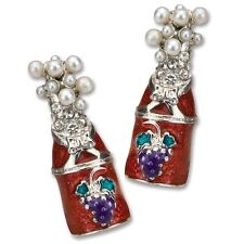 Earrings Epic Products Red Champagne Bottle Shaped Multicolor Stud