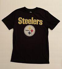 Pittsburg Steelers NFL Team Apparel Men's Logo Tee Shirt T-Shirt Football S Blk
