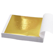 24ct Gold Colour Leaf Kit 100 Sheets 10ml Adhesive and Brush Gilding Art Design