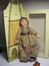 "7"" Hallmark Cloth ""Indian Maiden""  Doll  # 300TDT826-3 N/D Has the Box"