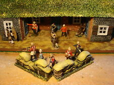 T3 Painted Boxes And Sandbags 1.32 scale. Rourkes Drift, Zulu war. For dioramas